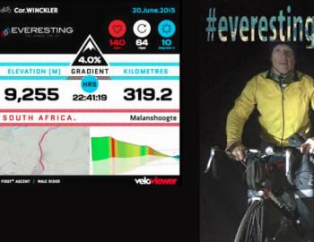 """Everesting"" Malanshoogte, Cape Town: Elev. 8848m"
