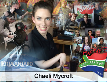 Cerebral Palsy, Quadriplegic and yet 20 yr old Chaeli is going to summit Mt Kilimanjaro.