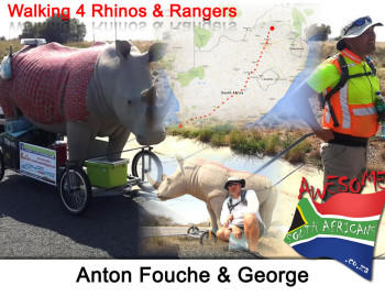 Anton Fouche is Walking 4 Rhinos & Rangers