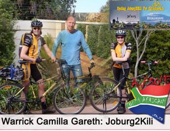 Warrick Camilla Gareth: Joburg2Kili