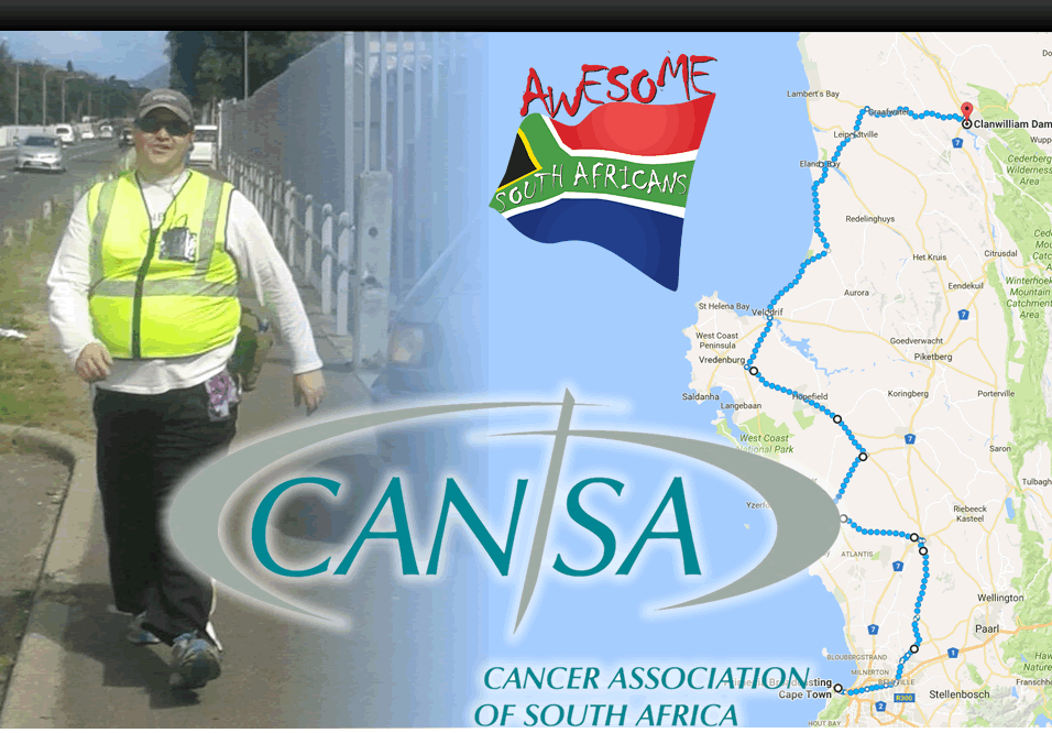 HermanCansa1 Herman is going the distance for CANSA