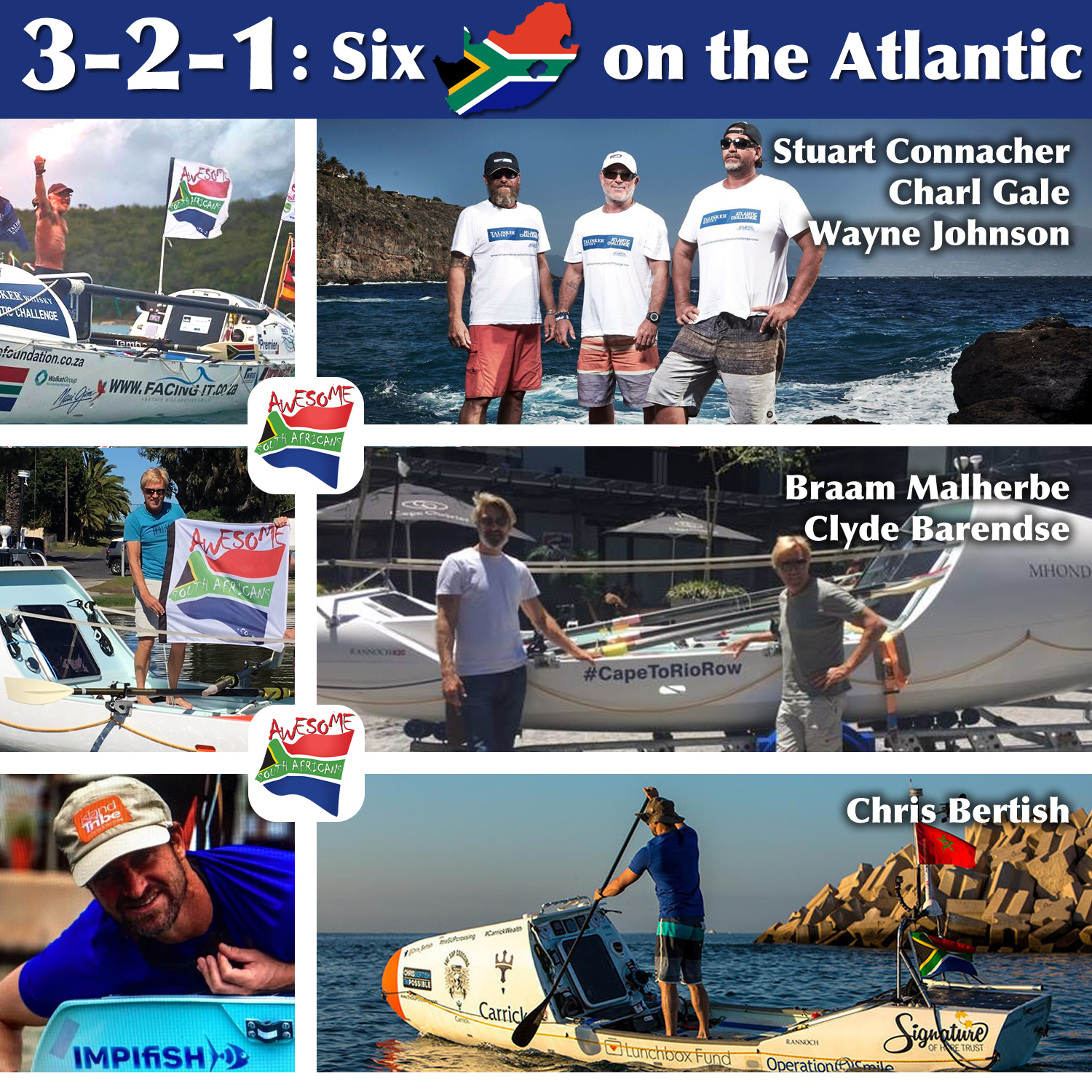 321 3 2 1: Six South Africans on the Atlantic